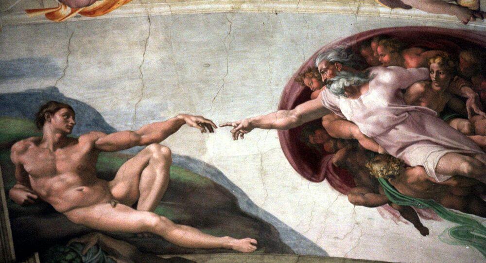 Michelangelo's fresco La Creazione (The Creation) on the ceiling of the Vatican's Sistine Chapel