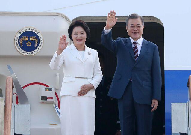 South Korean President Moon Jae-in arrived in Pyongyang for his third meeting with North Korean leader Kim Jong-un