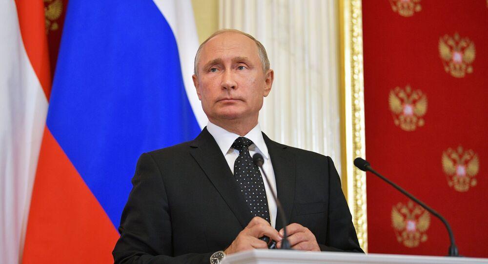 President Vladimir Putin holds a jont press conference with Hungarian Prime Minister Viktor Orban