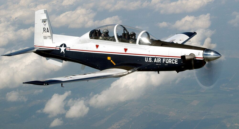 The T-6A Texan II is a single-engine, two-seat primary trainer designed to train Joint Primary Pilot Training, or JPPT, students in basic flying skills common to U.S. Air Force and Navy pilots. The trainer is phasing out the aging T-37 fleet throughout Air Education and Training Command.