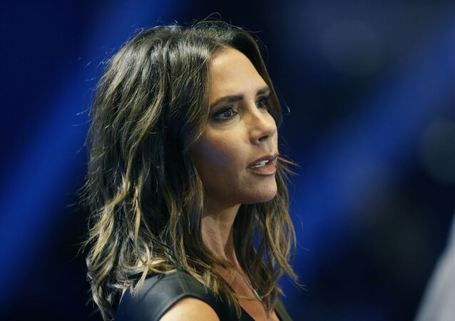 Victoria Beckham attends the UEFA Champions League draw at the Grimaldi Forum, in Monaco, Thursday, Aug. 30, 2018