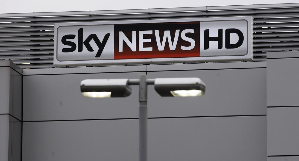 A Sky logo is seen outside the Sky headquarters building in west London (File)