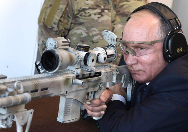 President Vladimir Putin visits Patriot park