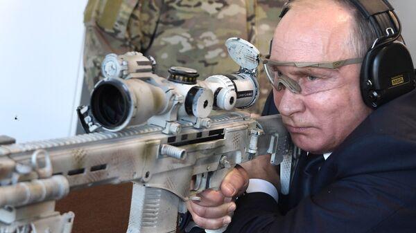 President Vladimir Putin visits Patriot park - Sputnik International