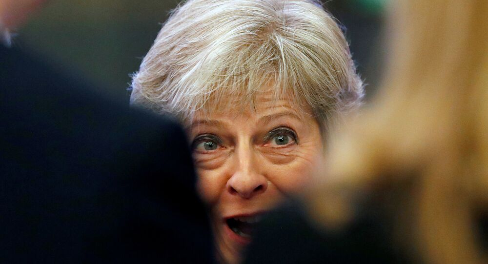 Britain's Prime Minister Theresa May attends the National Housing Summit in London, September 19, 2018