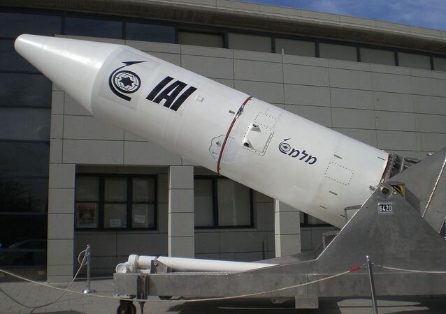 Third stage of Israeli space launch vehicle Shavit