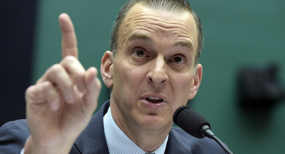 FILE - In this Feb. 28, 2017, file photo, Travis Tygart, the chief executive officer of the U.S. Anti-Doping Agency, testifies on Capitol Hill in Washington. Though athletes have often cited the win-at-all-costs culture as a reason they cheat, only a slim number of those surveyed said they would be tempted to take performance-enhancing drugs