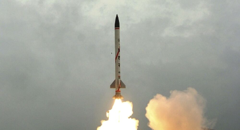 Prahaar, a surface-to-surface missile developed by India's Defense Research and Development Organization is test fired from Balasore in India's eastern Orissa state, Thursday, July 21, 2011