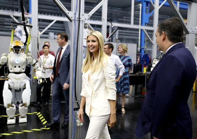 White House Senior Advisor Ivanka Trump and U.S. Senator Ted Cruz (R-TX) tour the Johnson Space Center in Houston, Texas, U.S., September 20, 2018.