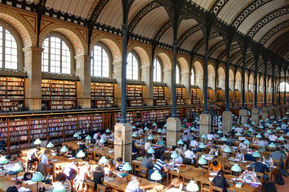 Sainte-Geneviève Library in Paris, France