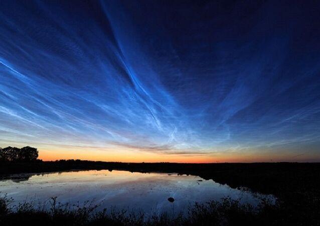 Noctilucent clouds over Uppsala, Sweden