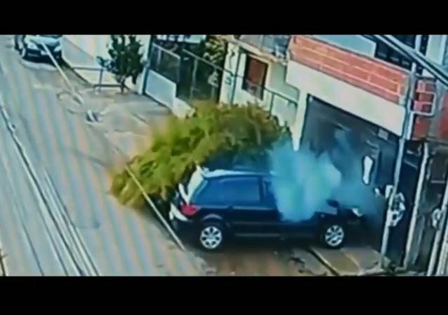 A car accident in Brazil