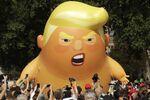 A 20-foot high cartoon baby blimp of US President Donald Trump