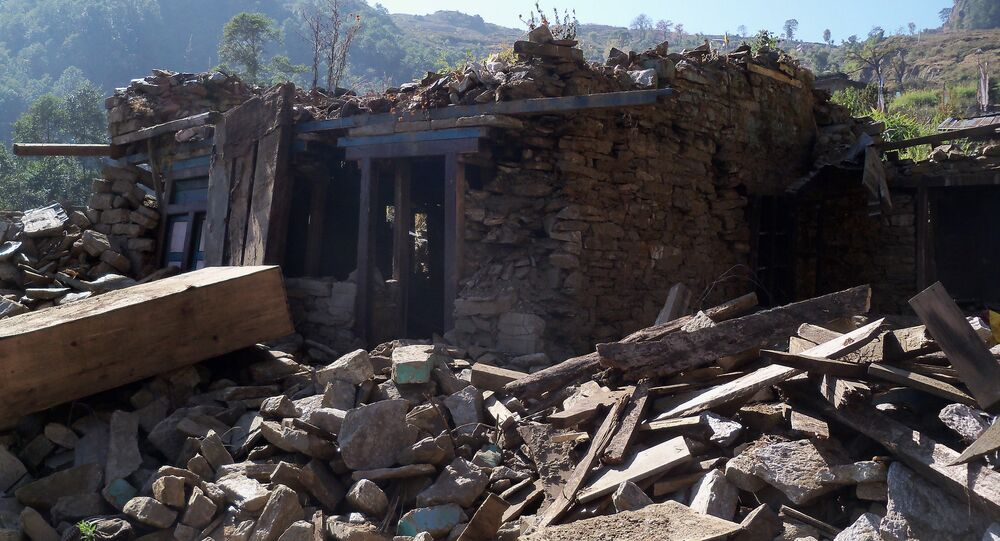 Image from Gorkha earthquake, Nepal, 2015. Strong shaking during the 2015 Gorkha earthquake destroyed over 450,000 houses and resulted in more than 8500 fatalities. 75% of the scenarios modeled in the study resulted in more fatalities than the 2015 event suggesting future earthquakes could be far more damaging.