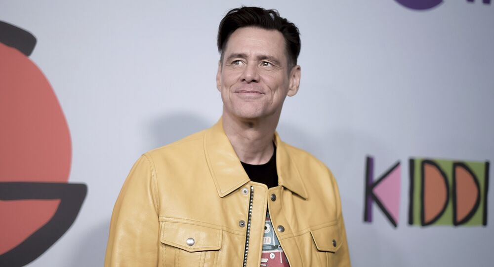 Jim Carrey attends the LA Premiere of Kidding at ArcLight Hollywood on Wednesday, Sept. 5, 2018, in Los Angeles.