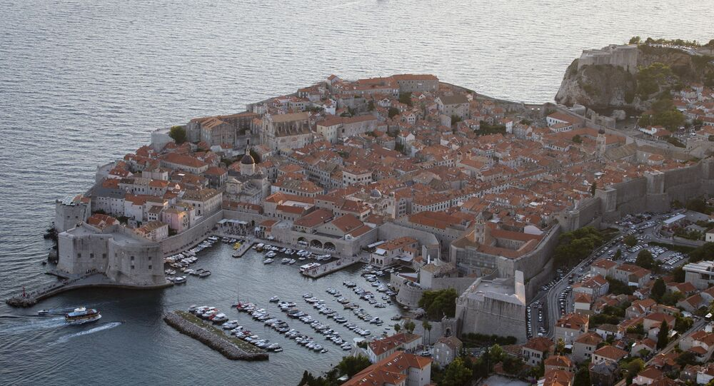 The port and tourist resort of Dubrovnik (pictured) in Croatia can only be reached by driving through Bosnia-Herzegovina
