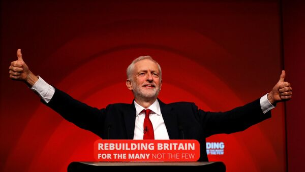 Britain's Labour Party leader Jeremy Corbyn delivers his keynote speech at the Labour Party Conference in Liverpool, Britain, September 26, 2016. - Sputnik International