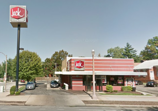 Jack in the Box Missouri location where US man was pinned to tree while trying to pick up order