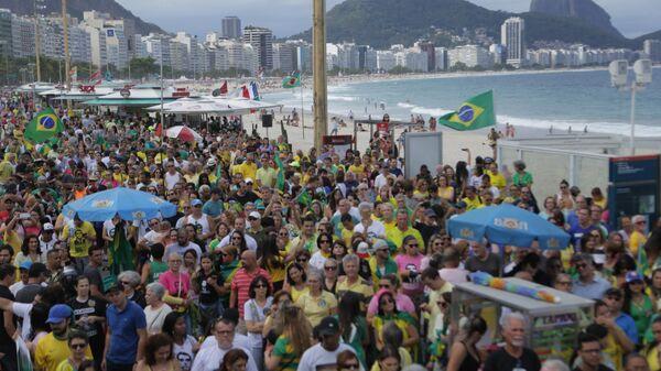 Jair Bolsonaro supporters rally in Rio de Janeiro. - Sputnik International