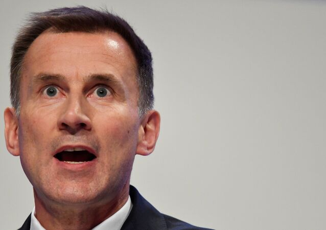 Britain's Foreign Secretary Jeremy Hunt addresses the Conservative Party Conference in Birmingham, Britain September 30, 2018