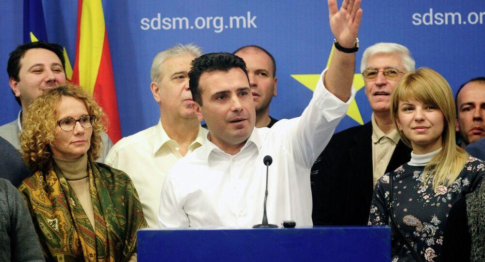 Macedonia's Prime Minister Zoran Zaev