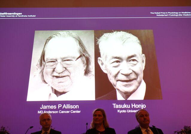 The Nobel Prize laureates for Medicine or Physiology 2018 are James P. Allison, US and Tasuku Honjo, Japan