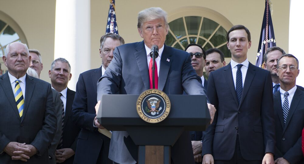 US President Donald Trump speaks from the Rose Garden of the White House in Washington, DC, on October 1, 2018.