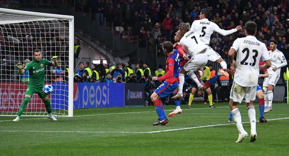 Soccer. Champions League. A match of CSKA - Real Madrid