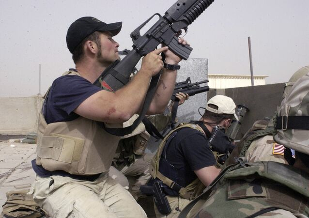 Plainclothes contractors working for Blackwater (File)