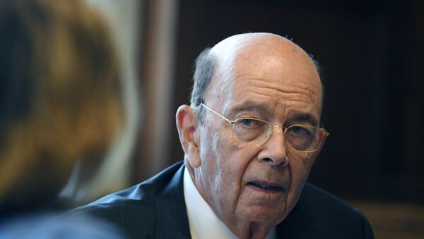 U.S. Secretary of Commerce Wilbur Ross answers questions during an interview with Reuters in his office at the U.S. Department of Commerce building in Washington, U.S., October 5, 2018 - Sputnik International