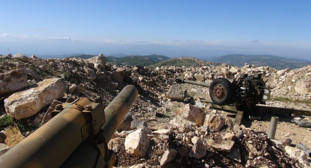 Syrian artillery deployed in northeastern Latakia