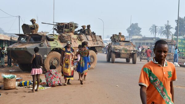 French Sangaris forces patrol in muslim district of PK 5 in Bangui as people go to the polls to take part in the Central African Republic second round of the presidential and legislative elections on February 14, 2016 - Sputnik International