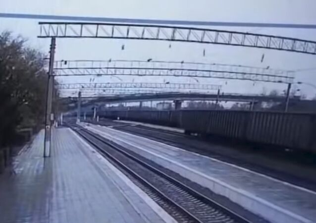 Road Bridge Collapsing On Trans-Baikal Railway
