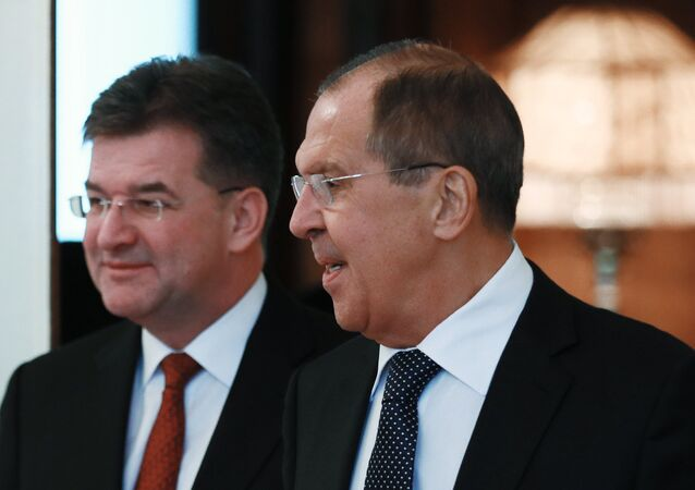 Lavrov Holds Joint Press Conference With Slovak Foreign Minister Lajcak