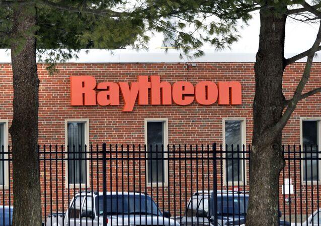 The exterior of Raytheon Co. in Sudbury, Mass. is seen Thursday, Jan. 29, 2009.