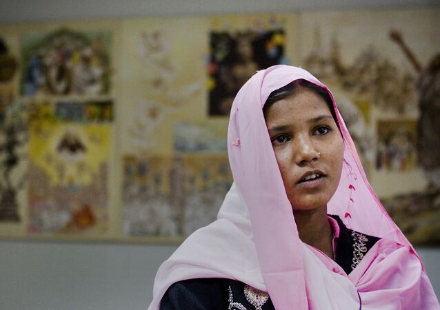 Asia Bibi's daughter, Sidra Shahzadi, met with Pope Francis in 2015.