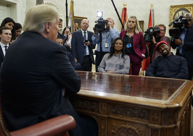 President Donald Trump meets with rapper Kanye West.