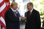 President Donald Trump welcomes Turkish President Recep Tayyip Erdogan to the White House in Washington