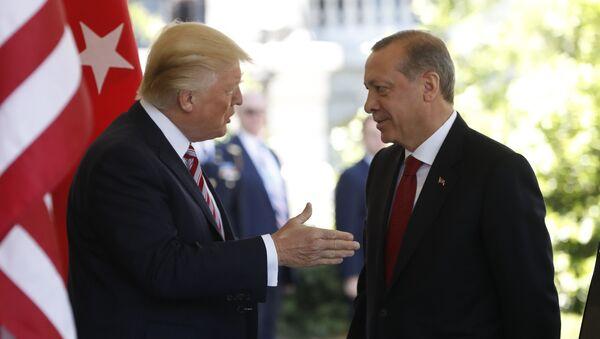 President Donald Trump welcomes Turkish President Recep Tayyip Erdogan to the White House in Washington - Sputnik International