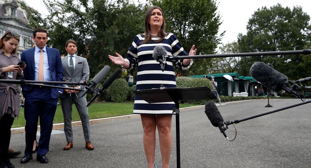 US White House Press Secretary Sarah Huckabee Sanders