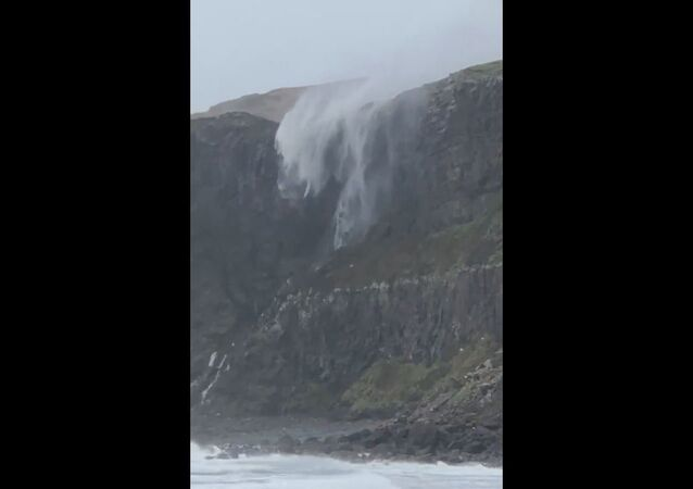 Waterfall Reversed by Storm Callum