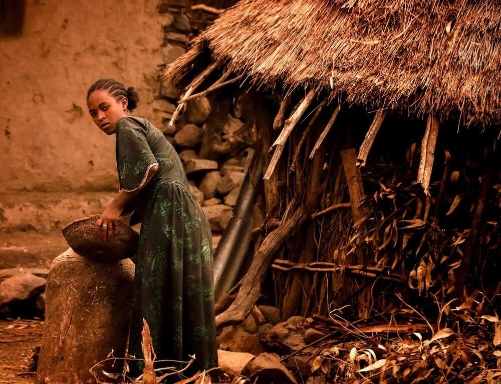 Ethiopian Woman at Work