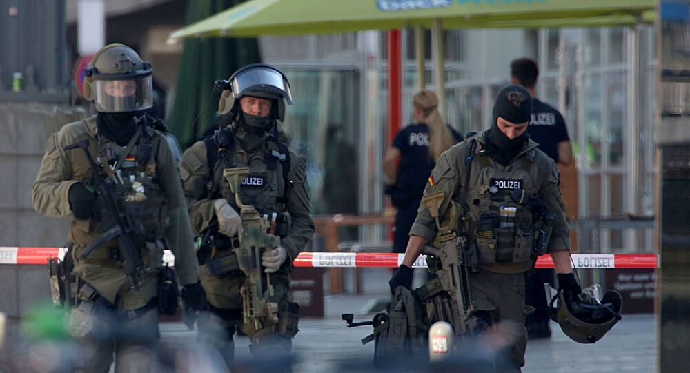 German Police Operate at the Site Where a Woman Was Held Hostage Allegedly By a Terrorist