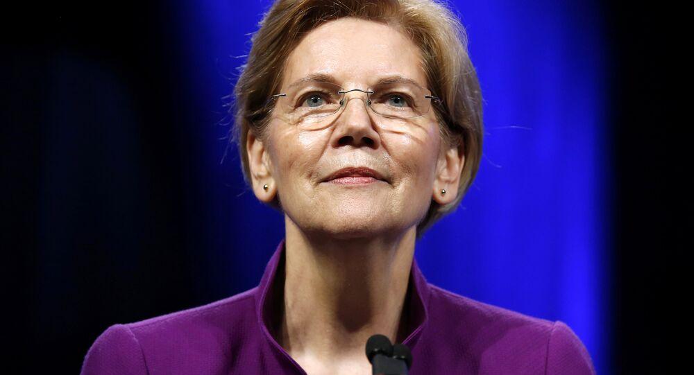 U.S. Senator Elizabeth Warren (D-MA) speaks at the Netroots Nation annual conference for political progressives in New Orleans