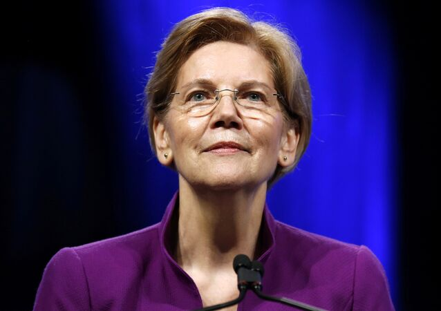 U.S. Senator Elizabeth Warren (D-MA) speaks at the Netroots Nation annual conference for political progressives in New Orleans