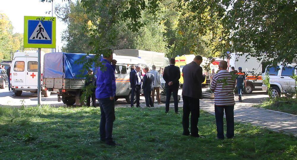 Blast in College in Kerch