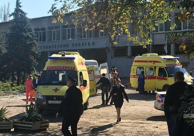 Blast at Kerch Polytechnic College