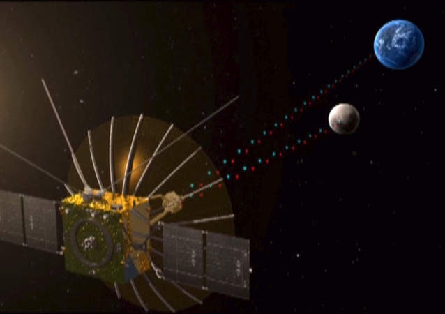 "Queqiao (鹊桥, ""Magpie Bridge""), the relay satellite for the Chang'e-4 lunar mission, entered the planned halo orbit around the second Lagrangian (L2) point of the Earth-Moon system, about 65,000 km from the Moon, on 14 June 2018, at 03:06 UTC (11:06 Beijing time)."