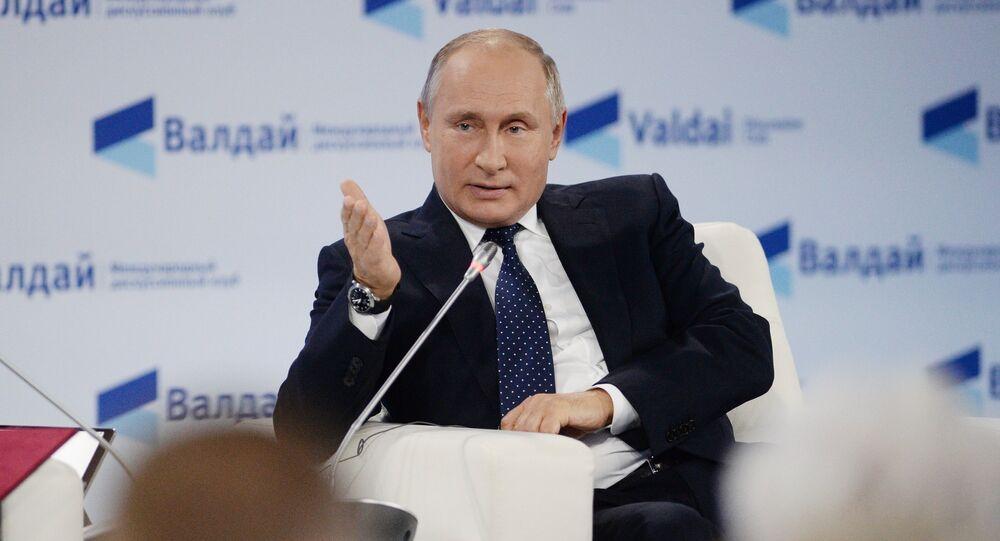 Vladimir Putin at Valdai Discussion Club Forum