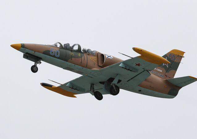Aero L-39 Albatros at flight drills at Yeysk